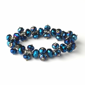 Royal Blue Flower Bracelet 7617