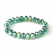 * Emerald Green 10mm Stretch Bracelet 7613
