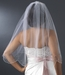 Single Scallop Edge Veil with Scattered Rhinestone & Pearl Accents V 125 1E