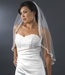Single Layer Elbow Length Veil with Decadent Cut Edge of Embroidery & Accents V 1560