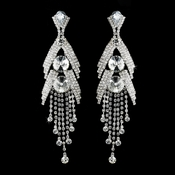 Silver Clear Earring Set 1059