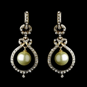 Gold Clear Earring Set 25356