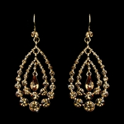 Gold Topaz Earring Set 24802