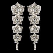 Silver Clear Earring Set 6513