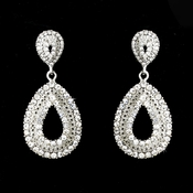 Silver Clear Earring Set 1056