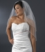 Bridal Wedding Double Layer Elbow Length Swarovski Rhinestone Edge Veil VSW E