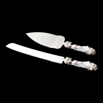 Pink 'Sweet 15' Girl Wedding Cake Server Set 100