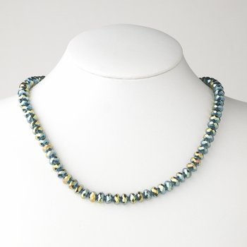 Emerald Green AB Necklace 7615