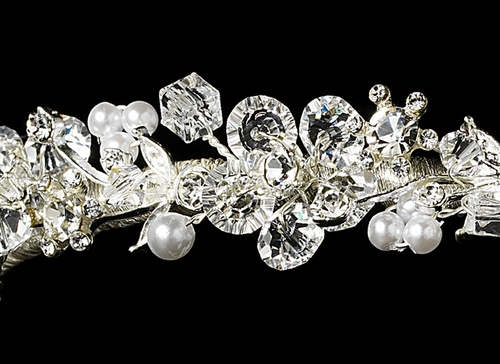 Floral Swarovski Bridal Headband HP 7046****Discontinued***