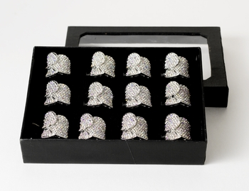 Fabulous Crystal Ring 155  (Box of 12)