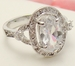 Oval Cubic Zirconia Ring 8285 **Discontinued**