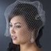 Single Layer Russian Birdcage Face Veil Scattered with Sparkling Rhinestones V Cage 702