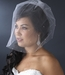Single Tier Fine Birdcage Face Veil Scattered with Pearls V 501
