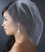 Single Tier Fine Birdcage Face Veil Softly Scattered with Rhinestones 502