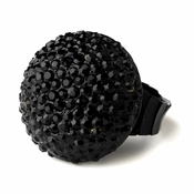 Black Pave Ball Ring 951