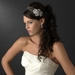 Antique Silver Clear Flower Side Accented Headband 9951