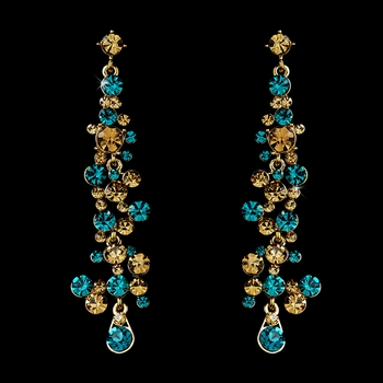 Earring 938 Gold Turquoise