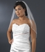 "Bridal Wedding Veil 1541 - 1E Single Layer - Elbow Length (30"" long x 54"" wide on comb)"