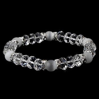 * Stretch Bracelet 8333 Clear Frosted White