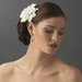 Pearl Centered Bridal Hair Flower Clip or Clip Brooch 402 (White, Red, Ivory, Maroon)