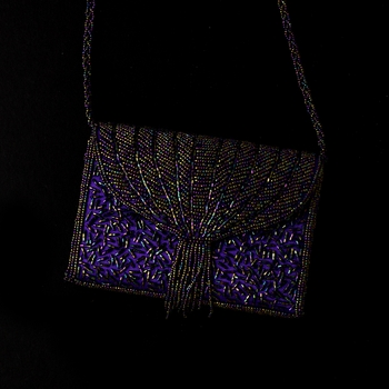 * Fabulous Purple Beaded Evening Bag 104