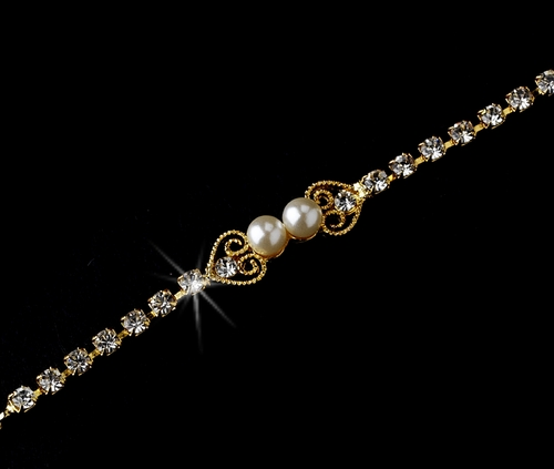 Bracelet 161 Gold Ivory ***Only 1 Left***