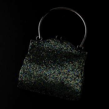 * Gorgeous Green Beaded Evening Bag 105