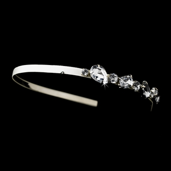 * Silver Ivory Clear Headpiece 8457***Dsicontinued*****