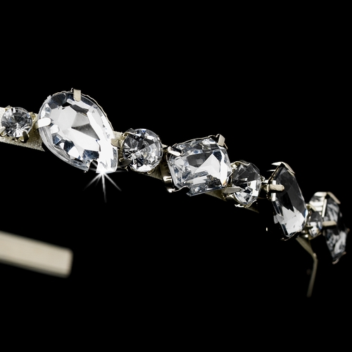 * Silver Ivory Clear Headpiece 8457 (2 Left)