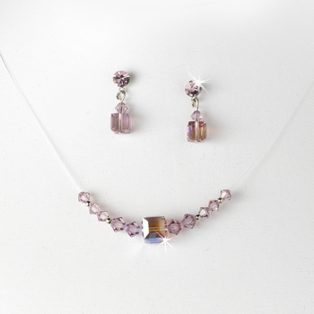 Necklace Earring Set NE 233 Light Amethyst AB