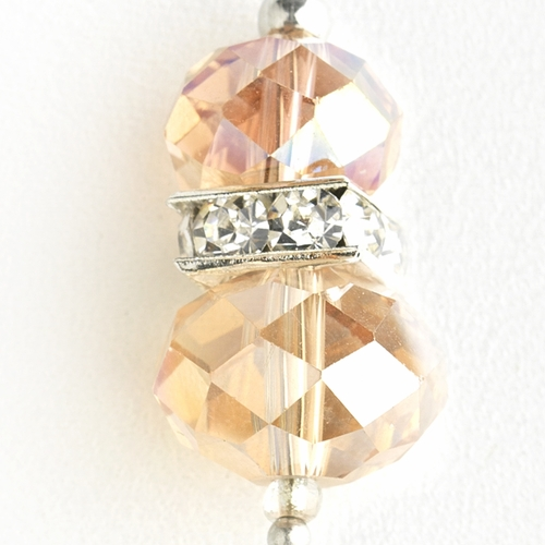 * Rose Pink Silver Clear Earring Set 7618
