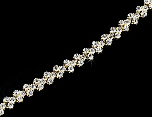 Gold Clear Follow Me Cubic Zirconia Bracelet 2026