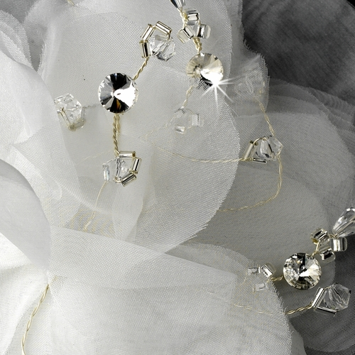 * Precious Dahlia Flower Hair Accessory with Genuine Swarovski Crystals 1134