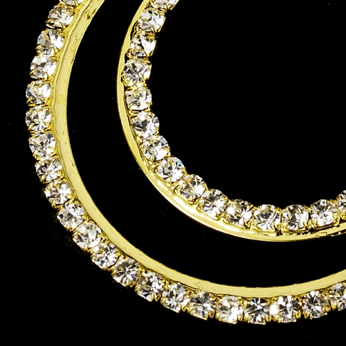 * Earring 1114 Gold Clear * Discontinued *
