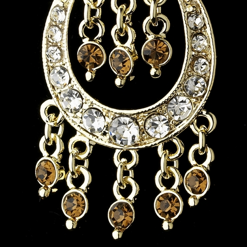 * Earring 804 Gold Brown