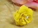 Yellow Glitter Crystal Bridal Hair Pin 900