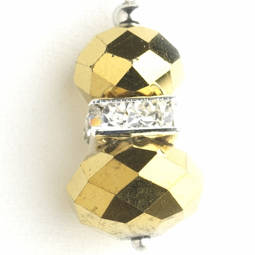 * Gold Silver Clear Earring Set 7618