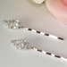 Silver with Clear Stones Hair Accents Bobby Pin 70371 (1 Pair)