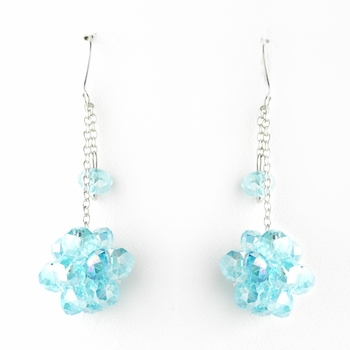 * Blue Cluster Dangle Earring Set 7620 ***4 Left***
