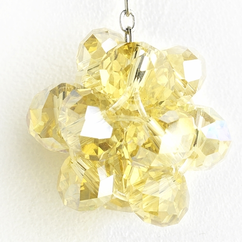 * Yellow Cluster Dangle Earring Set 7620 *1 Left *