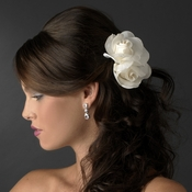 * Realistic Looking Twin Gardenia Flower Hair Clip 410