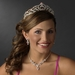 Regal Rhinestone Heart Princess Tiara in Silver with Pink Accents 516