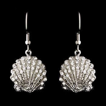 Silver Clear Sea Shell Earring Set 7800