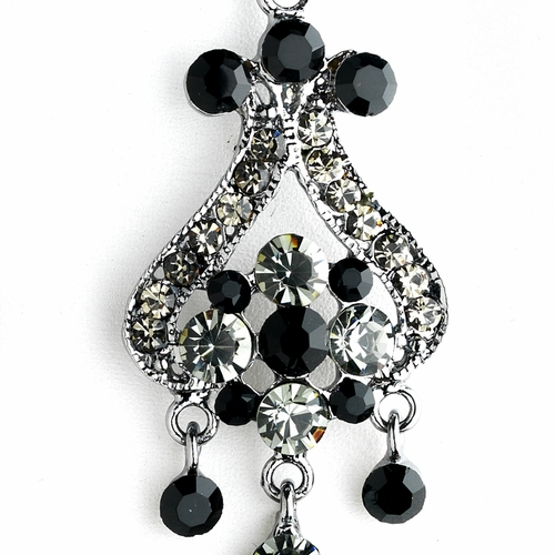 Antique Silver Black Earring Set 1033***Discontinued***