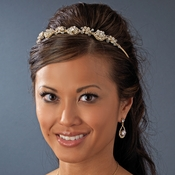 Vintage Bridal Headpiece HP 8146 Gold or Silver