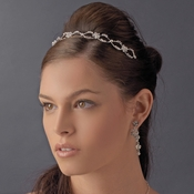 * Crystal Flower Swirl Bridal Headband HP 8224 ***Discontinued***