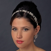 Ribbon Crystal Headband Bridal Headpiece 15760