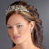 * Silver Clear Headband Headpiece 9785
