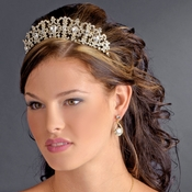 Gold Clear Headband Headpiece 9830