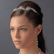 * Beautiful Swarovski Crystal Tiara <br> HP 9028